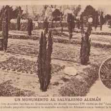 Postales: SEGUNDA GUERRA MUNDIAL, MONUMENTO AL SALVAJISMO ALEMAN. VER REVERSO. Lote 289722548