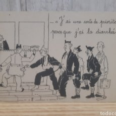 Postales: ANTIGUA POSTAL HUMORÍSTICA FRANCESA DE MILITARES. Lote 295398078
