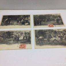 Postales: SERIE DE POSTALES DUELO DE HONOR CON SABLE - ESGRIMA - POSTALES DE ORIGEN FRANCES. Lote 296700048