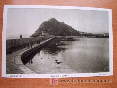 AGUILAS - ESCOLLERA Y CASTILLO - EDICIONES ARRIBAS (Postales - España - Murcia Moderna (desde 1.940))