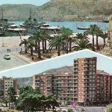 Postales: CARTAGENA.PUERTO Y PLAZA ESPAÑA.. Lote 5299474