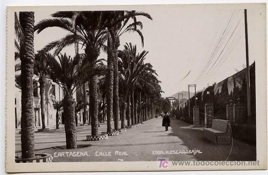 CARTAGENA, CALLE REAL, P15586 (Postales - España - Murcia Antigua (hasta 1.939))