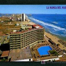 Postales: LA MANGA DEL MAR MENOR *HOTEL ENTREMARES Y VISTA PARCIAL* ED. BOYCER Nº 3016. NUEVA.. Lote 6244814