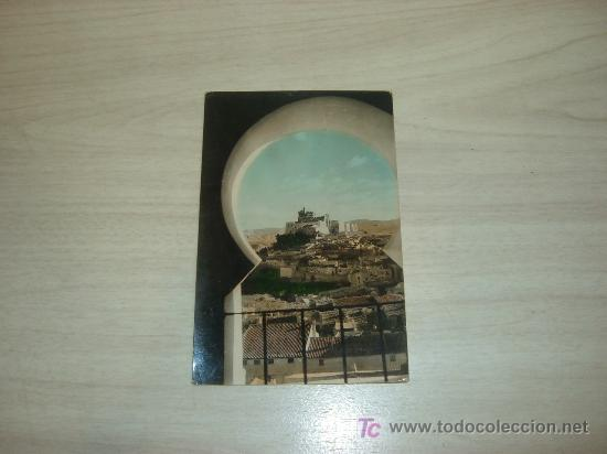 POSTAL FOTOGRAFICA CARAVACA DE LA CRUZ,VISTA CASTILLO DESDE PLAZA DE TOROSRAKER DIEGO MARIN CARAVACA (Postales - España - Murcia Moderna (desde 1.940))