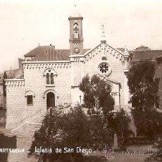 Postales: CARTAGENA.IGLESIA DE SAN DIEGO. Lote 9360796