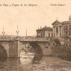 Postales: MURCIA.PUENTE VIEJO Y VIRGEN DE LOS PELIGROS. Lote 21931682