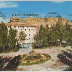 Postales: TARJETA POSTAL DE LORCA PLAZA DE COLON AL FONDO DEL CASTILLO MURCIA. Lote 9362809