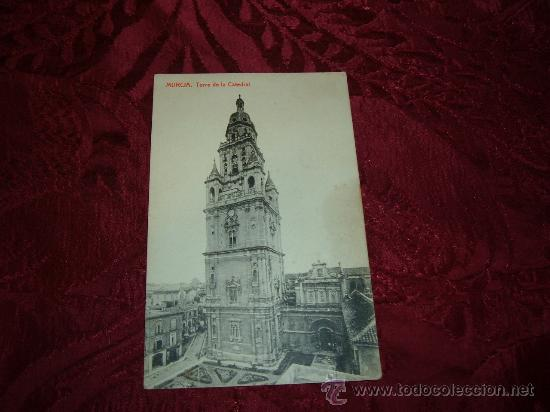MURCIA TORRE DE LA CATEDRAL,FOTOTIPIA THOMAS (Postales - España - Murcia Antigua (hasta 1.939))