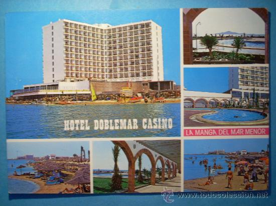 R2837 MURCIA SPAIN ESPAÑA LA MANGA DEL MAR MENOR HOTEL DOBLEMAR CASINO AÑOS 80 CIRCULADA (Postales - España - Murcia Moderna (desde 1.940))