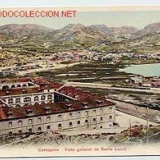 Postales: CARTAGENA. MURCIA. VISTA GENERAL DE SANTA LUCIA. REVERSO SIN DIVIDIR. Lote 12602929