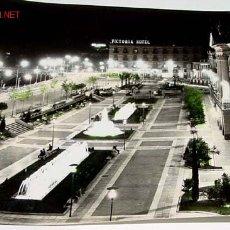 Postales: ANTIGUA FOTO POSTAL DE MURCIA . GLORIETA DE ESPAÑA, VISTA DE NOCHE, AL FONDO EL HOTEL VICTORIA . ED.. Lote 2623856