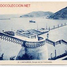 Postales: CARTAGENA. PARQUE DE LOS CANTONALES. Nº 37. EDICION CASAU, FOT. ESCRITA. Lote 2744646