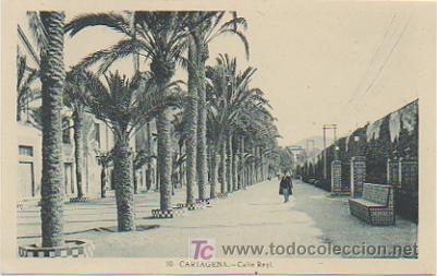 CARTAGENA. CALLE REAL. (Postales - España - Murcia Antigua (hasta 1.939))