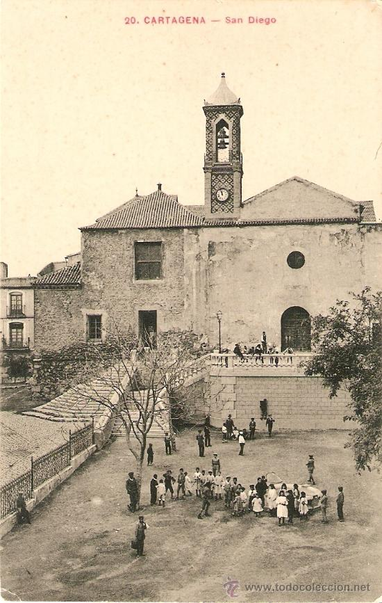 CARTAGENA-SAN DIEGO (Postales - España - Murcia Antigua (hasta 1.939))