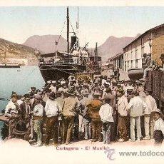 Postales: CARTAGENA-EL MUELLE. Lote 16388182