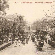 Postales: CARTAGENA(MURCIA) PLAZA DE LA CONSTITUCION. Lote 10662214