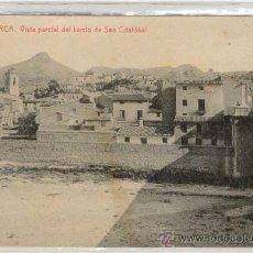 Postales: (PS-8181)POSTAL DE LORCA(MURCIA)-VISTA PARCIAL DEL BARRIO DE SAN CRISTOBAL. Lote 10750108