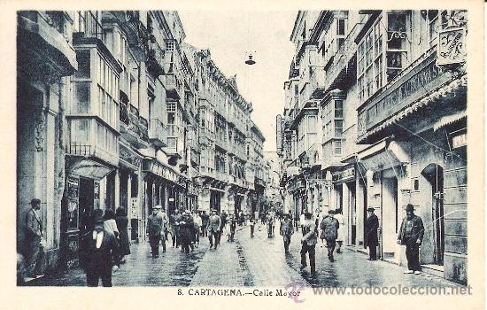 CARTAGENA.CALLE MAYOR (Postales - España - Murcia Antigua (hasta 1.939))