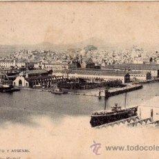 Postales: Nº 17974 POSTAL CARTAGENA HAUSER Y MENET SIN DIVIDIR BARCOS . Lote 25897651