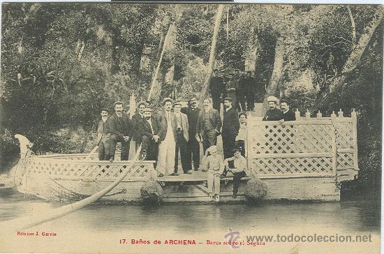 Ba os de archena balneario barca sobre el rio comprar - Balneario de segura de banos ...