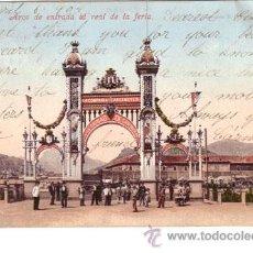 Postales: Nº 1246 POSTAL CARTAGENA SIN DIVIDIR ARCO DE ENTRADA A LA FERIA. Lote 25453916