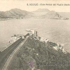 Postales: ÁGUILAS – VISTA PARCIAL DEL MUELLE DESDE EL CASTILLO. COLECCIÓN TORRECILLAS. Lote 25296352