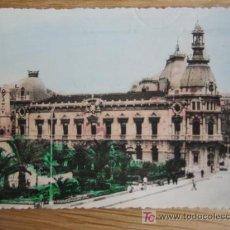 Postales: CARTAGENA. N 33. AYUNTAMIENTO Y HEROES DE CAVITE. FOTOS CASAÚ. CIRCULADA 1958. Lote 20507703