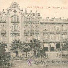 Postales: CARTAGENA – CASA MAESTRE Y BANCO DE CARTAGENA – EDICIÓN J. CASAU – FOTÓGRAFO . Lote 24988634