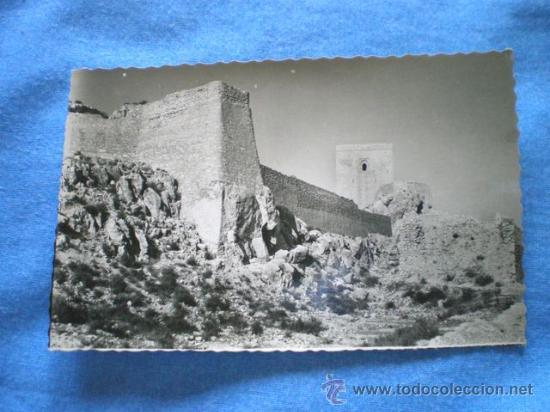 POSTAL LORCA MURCIA CASTILLO MURALLONES Y TORRE ALFONSINA 1958 ESCRITA (Postales - España - Murcia Moderna (desde 1.940))