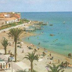 Postales: LOS ALCAZARES (MAR MENOR) PASEO Y PLAYA DE CARRIÓN. Lote 15800211