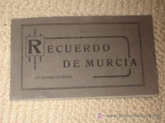 Postales: Carnet Recuerdo de Murcia, de 15 postales, completo. Edición Melero. En una se ve la librería Melero - Foto 2 - 23711072