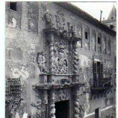 Postales: LORCA MURCIA. FOTOGRÁFICA. AÑOS 40. CASA SOLARIEGA DE LOS MORENO. MUSEO ARQUEOLOGICO.. Lote 18989064