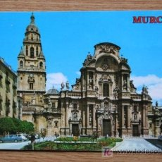 Postales: MURCIA. PLAZA CARDENAL BELLUGA Y CATEDRAL.. Lote 19027901