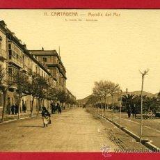 Postales: CARTAGENA, MURCIA, MURALLA DEL MAR, P42906. Lote 21834814