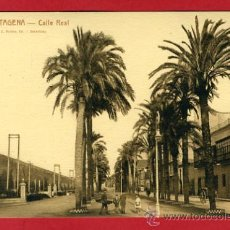 Postales: CARTAGENA, MURCIA, CALLE REAL, P42913. Lote 21834864