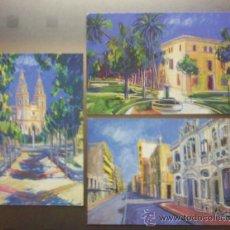 Postales: LOTE DE 3 POSTALES IGLESIA DE CAMPOAMOR, CASA DE LAS CAYITAS Y CALLE MAYOR DE ALCANTARILLA MURCIA . Lote 22998876
