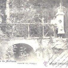 Postales: PS0272 BAÑOS DE ARCHENA 'PUENTE DEL PARQUE'. NÚM. 19. FOT. LACOSTE. CIRCULADA MAYO DE 1906. Lote 23587766