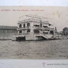 Postales: POSTAL DE CARTAGENA - REAL CLUB DE REGATAS - VISTA DESDE EL MAR (ED J.CASAN, CIRCULADA 1914). Lote 23652680