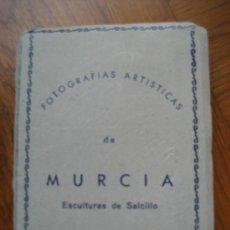 Postales: MURCIA. FOTOGRAFIAS ARTISTICAS. ESCULTURAS DE SALCILLO. 10 VISTA 9 X 7 CMS. APROX. ED. ARRIBAS. Lote 23679189