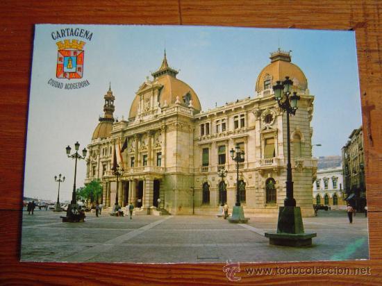 POSTAL DE CARTAGENA.-AYUNTAMIENTO (Postales - España - Murcia Moderna (desde 1.940))