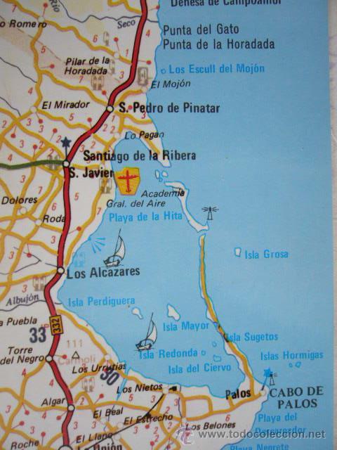 Mar Menor Mapa España.Murcia Mapa Del Mar Menor Nº 2 Distr A Hernandez