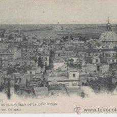 Postales: CARTAGENA. MURCIA. VISTA DEL CASTILLO DE LA CONCEPCIÓN. AÑO 1905.. Lote 25418657