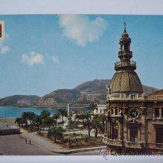 Postales: CARTAGENA MURCIA - PUERTO - MONUMENTO A LOS HEROES DE CAVITE - ANTIGUO AYUNTAMIENTO - TRANVIA. Lote 25439321
