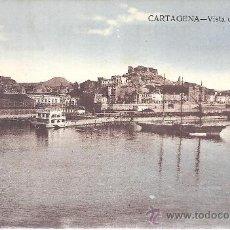 Postales: PS1234 CARTAGENA 'VISTA DEL PUERTO'. COLOREADA. ED. J. CASAÚ. ESCRITA AL DORSO Y FECHADA EN 1924. Lote 25945313
