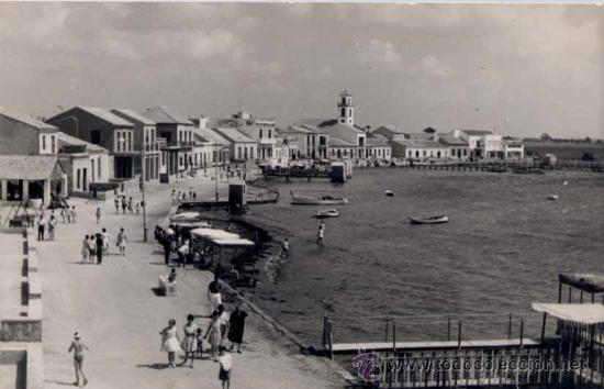 LOS ALCAZARES (MURCIA9.- VISTA PARCIAL DEL PASEO Y PLAYA DEL ESPEJO (Postales - España - Murcia Moderna (desde 1.940))