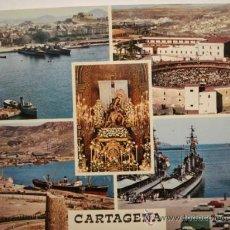 Postales: 224 CARTAGENA VISTAS BARCO CIRCULADA AÑOS 60 - MAS DE ESTA CIUDAD EN MI TIENDA. Lote 26830376
