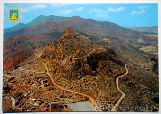 MURCIA. LORCA. CASTILLO. TORRE ALFONSINA AL FONDO. (Postales - España - Murcia Moderna (desde 1.940))