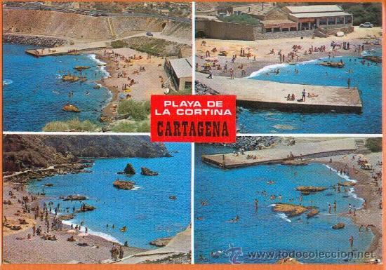 CARTAGENA - MURCIA - PLAYA DE LA CORTINA - DIVERSOS ASPECTOS - Nº 3832 BOYCER (Postales - España - Murcia Moderna (desde 1.940))