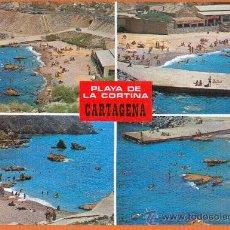 Postales: CARTAGENA - MURCIA - PLAYA DE LA CORTINA - DIVERSOS ASPECTOS - Nº 3832 BOYCER. Lote 27378177