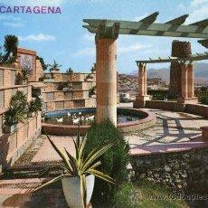 Postales: CARTAGENA 2034 PARQUE TORRES ESCRITA CIRCULADA SELLO EDICIONES ARRIBAS. Lote 27457458